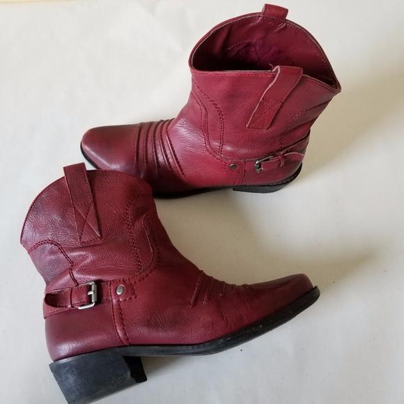 28f6587197a Franco Sarto Waco 2 Women Cherry RED Short Cowboy